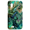 Fractal Batik Art Teal Turquoise Salmon HTC Desire VT (T328T) Hardshell Case View2