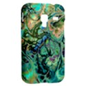 Fractal Batik Art Teal Turquoise Salmon Samsung Galaxy Ace Plus S7500 Hardshell Case View2