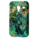 Fractal Batik Art Teal Turquoise Salmon Samsung Galaxy Ace Plus S7500 Hardshell Case View3