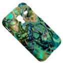 Fractal Batik Art Teal Turquoise Salmon Samsung Galaxy Ace Plus S7500 Hardshell Case View5