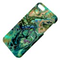 Fractal Batik Art Teal Turquoise Salmon Apple iPhone 5 Hardshell Case with Stand View4