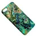 Fractal Batik Art Teal Turquoise Salmon Apple iPhone 5 Hardshell Case with Stand View5