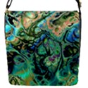 Fractal Batik Art Teal Turquoise Salmon Flap Covers (S)  View1
