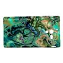 Fractal Batik Art Teal Turquoise Salmon Sony Xperia ZL (L35H) View1