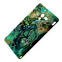 Fractal Batik Art Teal Turquoise Salmon Sony Xperia ZL (L35H) View4