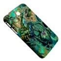 Fractal Batik Art Teal Turquoise Salmon Samsung Galaxy Tab 3 (7 ) P3200 Hardshell Case  View5