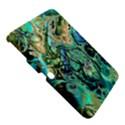 Fractal Batik Art Teal Turquoise Salmon Samsung Galaxy Tab 3 (10.1 ) P5200 Hardshell Case  View5