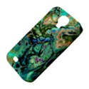 Fractal Batik Art Teal Turquoise Salmon Samsung Galaxy S4 Classic Hardshell Case (PC+Silicone) View4