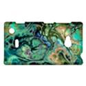Fractal Batik Art Teal Turquoise Salmon Nokia Lumia 720 View1