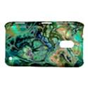 Fractal Batik Art Teal Turquoise Salmon Nokia Lumia 620 View1