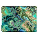 Fractal Batik Art Teal Turquoise Salmon iPad Air Hardshell Cases View1
