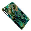 Fractal Batik Art Teal Turquoise Salmon iPad Air Hardshell Cases View5
