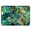 Fractal Batik Art Teal Turquoise Salmon Amazon Kindle Fire HD (2013) Hardshell Case View1