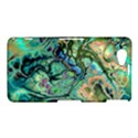 Fractal Batik Art Teal Turquoise Salmon Sony Xperia Z1 Compact View1