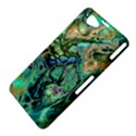Fractal Batik Art Teal Turquoise Salmon Sony Xperia Z1 Compact View4