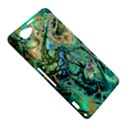 Fractal Batik Art Teal Turquoise Salmon Sony Xperia Z1 Compact View5