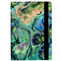 Fractal Batik Art Teal Turquoise Salmon iPad Mini 2 Flip Cases View2