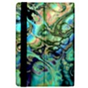 Fractal Batik Art Teal Turquoise Salmon iPad Mini 2 Flip Cases View4
