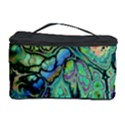 Fractal Batik Art Teal Turquoise Salmon Cosmetic Storage Case View1
