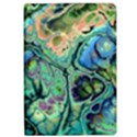 Fractal Batik Art Teal Turquoise Salmon iPad Air 2 Flip View1
