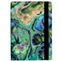 Fractal Batik Art Teal Turquoise Salmon iPad Air 2 Flip View2