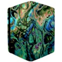 Fractal Batik Art Teal Turquoise Salmon iPad Air 2 Flip View3