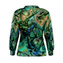 Fractal Batik Art Teal Turquoise Salmon Women s Sweatshirt View2