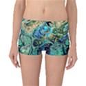 Fractal Batik Art Teal Turquoise Salmon Boyleg Bikini Bottoms View1