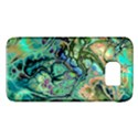 Fractal Batik Art Teal Turquoise Salmon Galaxy S6 View1