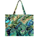 Fractal Batik Art Teal Turquoise Salmon Large Tote Bag View2