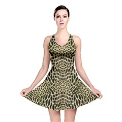 BROWN REPTILE Reversible Skater Dress