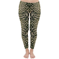 Brown Reptile Winter Leggings