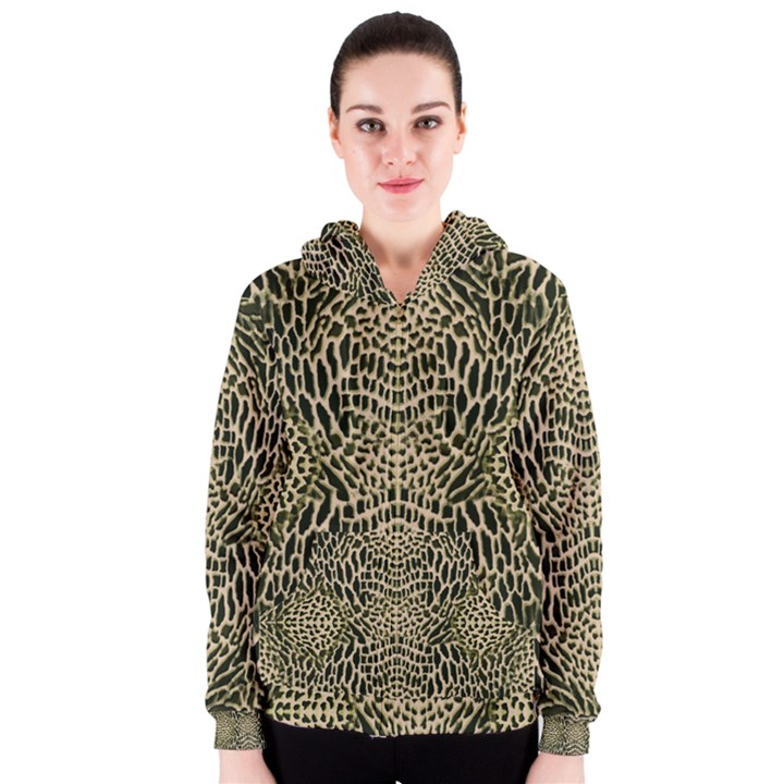 BROWN REPTILE Women s Zipper Hoodie