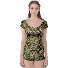 BROWN REPTILE Boyleg Leotard