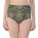 BROWN REPTILE High-Waist Bikini Bottoms View1
