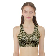 BROWN REPTILE Sports Bra with Border