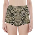 BROWN REPTILE High-Waisted Bikini Bottoms View1
