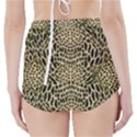 BROWN REPTILE High-Waisted Bikini Bottoms View2