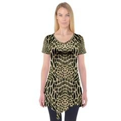 BROWN REPTILE Short Sleeve Tunic