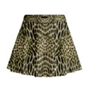 BROWN REPTILE Mini Flare Skirt View1