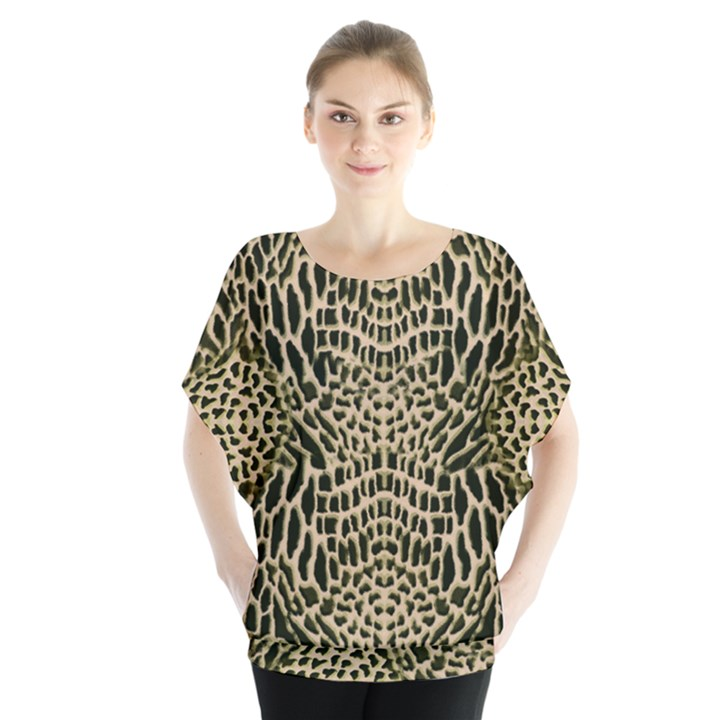 BROWN REPTILE Blouse