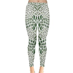 Green Snake Texture Leggings