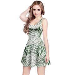 GREEN SNAKE TEXTURE Reversible Sleeveless Dress