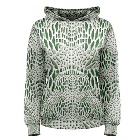 GREEN SNAKE TEXTURE Women s Pullover Hoodie