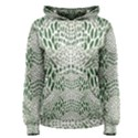 GREEN SNAKE TEXTURE Women s Pullover Hoodie View1