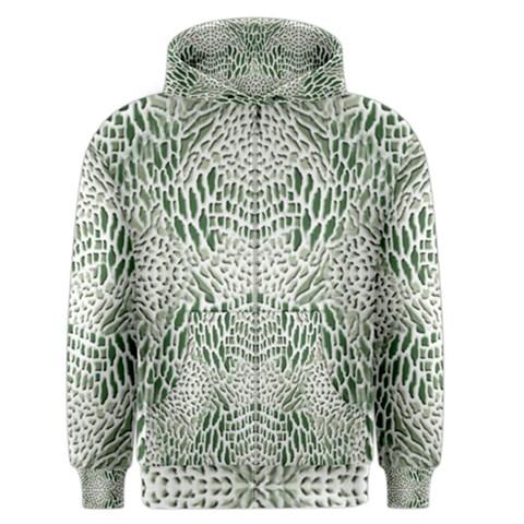 GREEN SNAKE TEXTURE Men s Zipper Hoodie