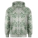 GREEN SNAKE TEXTURE Men s Zipper Hoodie View1