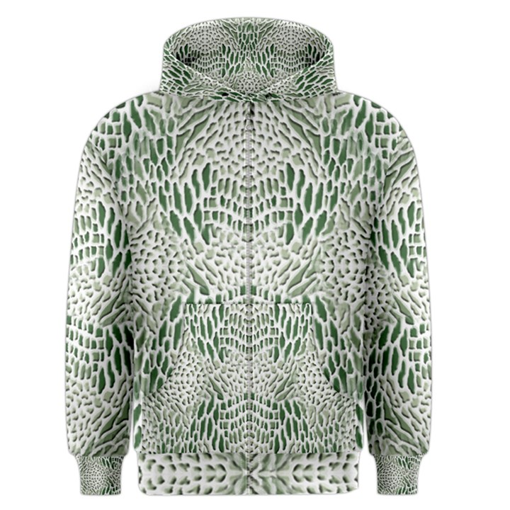 GREEN SNAKE TEXTURE Men s Zipper Hoodie
