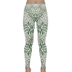 GREEN SNAKE TEXTURE Yoga Leggings