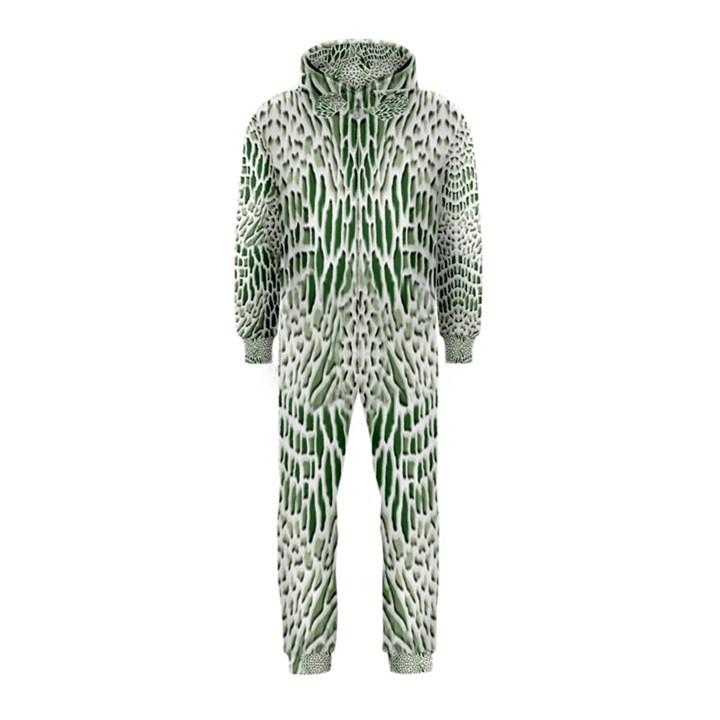 GREEN SNAKE TEXTURE Hooded Jumpsuit (Kids)